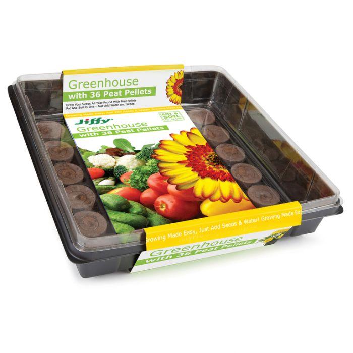 Jiffy - Greenhouse - 36 x 36 mm pellets  ] 33349100506 - Flower Power