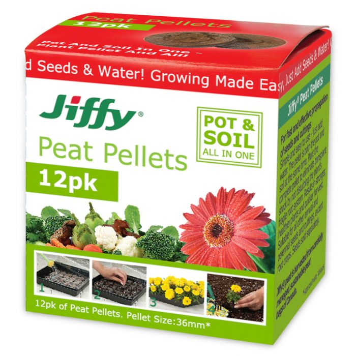 Jiffy - 36mm Peat Pellets (box of 12)  ] 33349100513 - Flower Power
