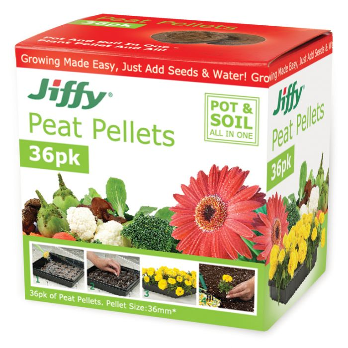 Jiffy - 36mm Peat Pellets (box of 36)  ] 33349100520 - Flower Power
