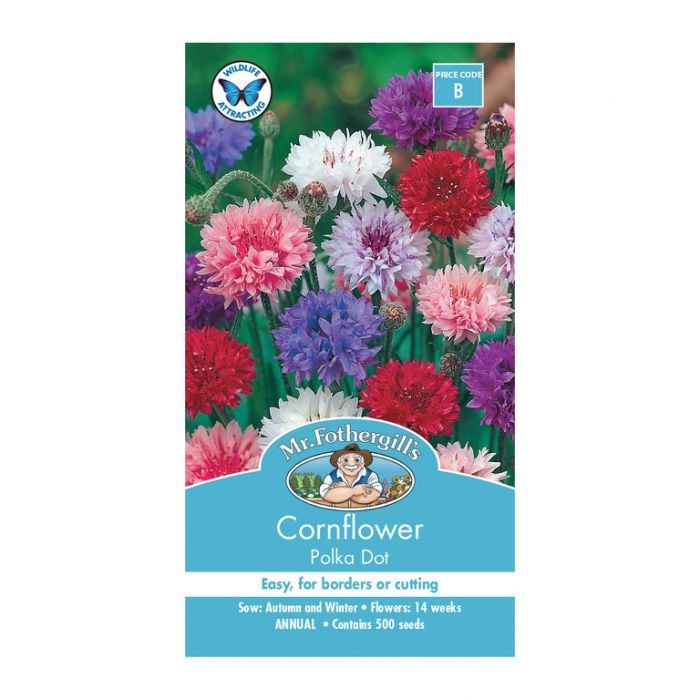 Mr Fothergill's Cornflower Polka Dot  ] 5011775000183 - Flower Power