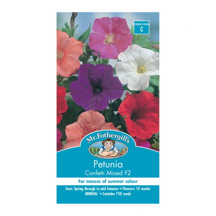 Mr Fothergill's Petunia Confetti Mixed  ] 5011775000497 - Flower Power