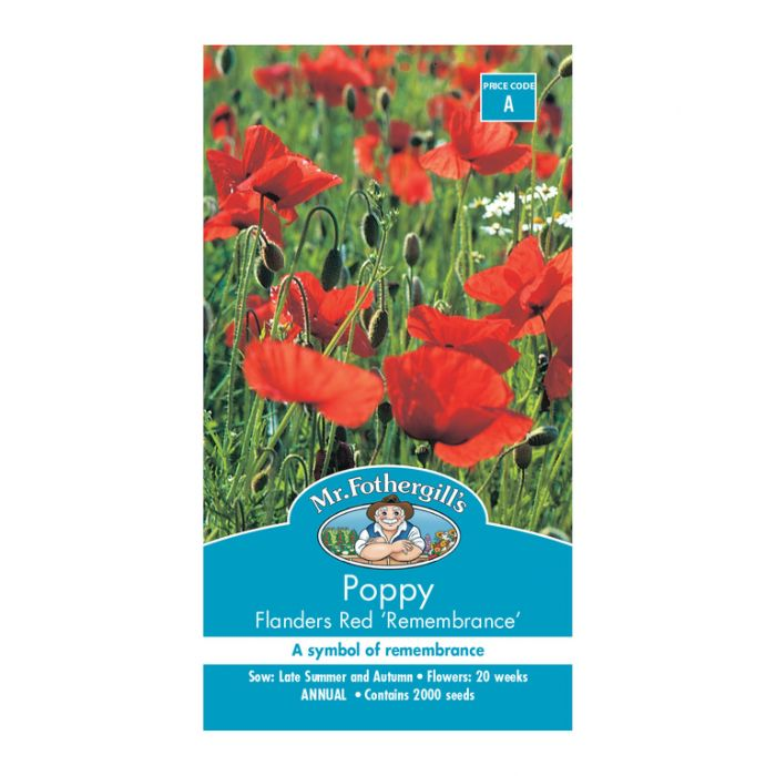 Mr Fothergill's Poppy Flanders Red Remembrance  ] 5011775003122 - Flower Power
