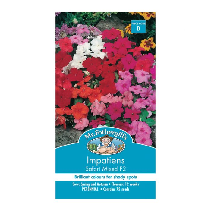 Mr Fothergill's  Impatiens Safari Mixed/Colour Cocktail F2  ] 5011775009766 - Flower Power
