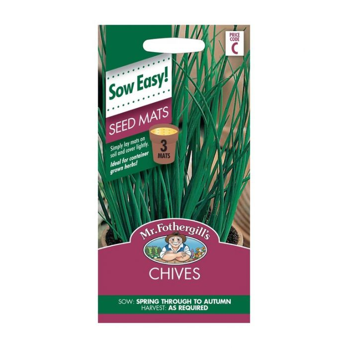 Mr Fothergill's Chives Seed Mat  ] 5011775017235 - Flower Power