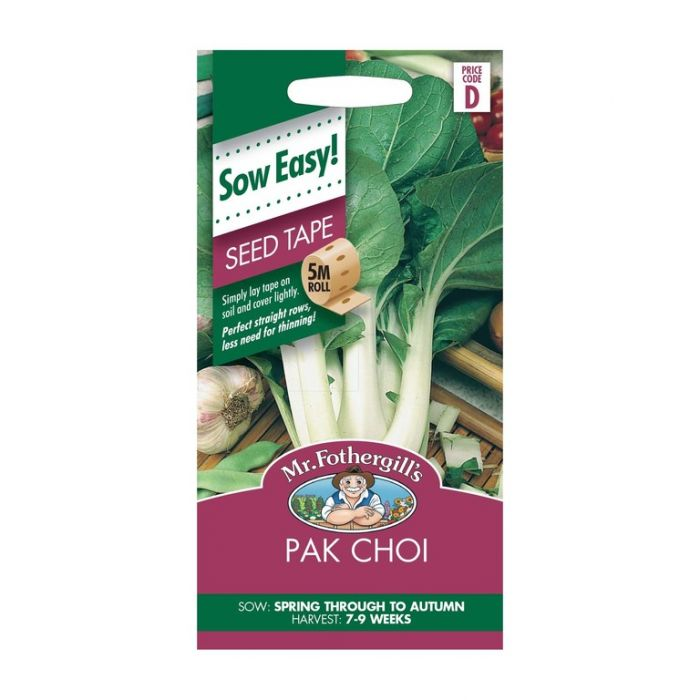 Mr Fothergill's Pak Choi Seed Tape  ] 5011775017686 - Flower Power