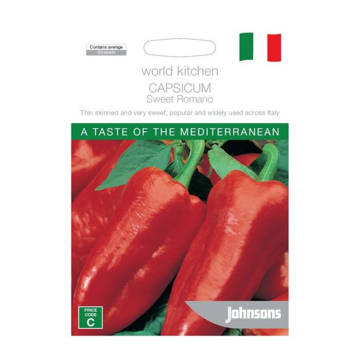 World Kitchen - Mediterranean - Capsicum Sweet Romano  ] 5011775049526 - Flower Power