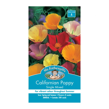 Mr Fothergill's Californian Poppy Single Mixed  ] 5011775055107 - Flower Power