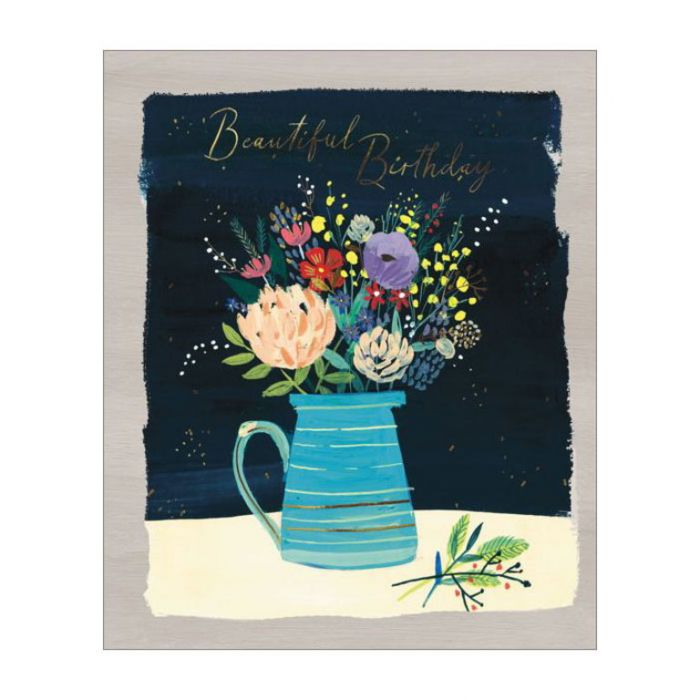 Almanac Gallery Beautiful Birthday Card  ] 5015433812644 - Flower Power
