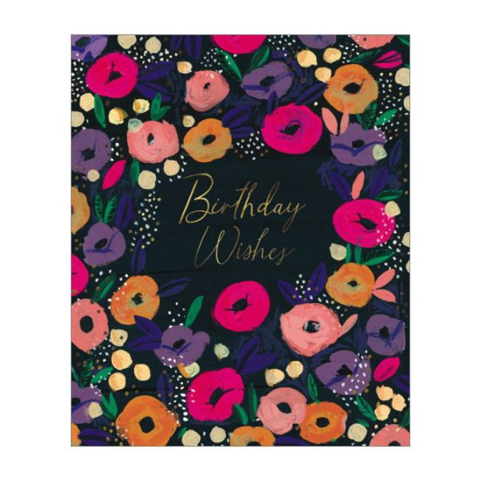 Almanac Gallery Birthday Wishes Card  ] 5015433812675 - Flower Power
