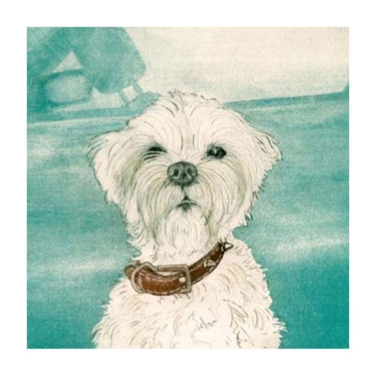 Almanac Gallery Puppy Card  ] 5019906300751 - Flower Power