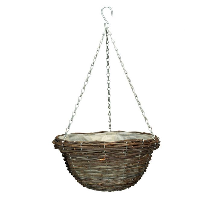Gardman Rattan Basket  ] 5024160029164 - Flower Power