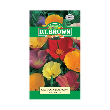 D.T. Brown Californian Poppy Single Mixed  ] 5030075004844 - Flower Power