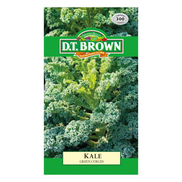 D.T. Brown Kale Green Curled  ] 5030075022886 - Flower Power