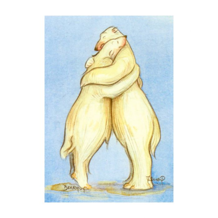Almanac Gallery Bearhug Card  ] 5060046860162 - Flower Power