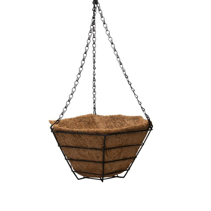 FP Collections Flat Black Wire Hanging Basket  ] 717310P - Flower Power