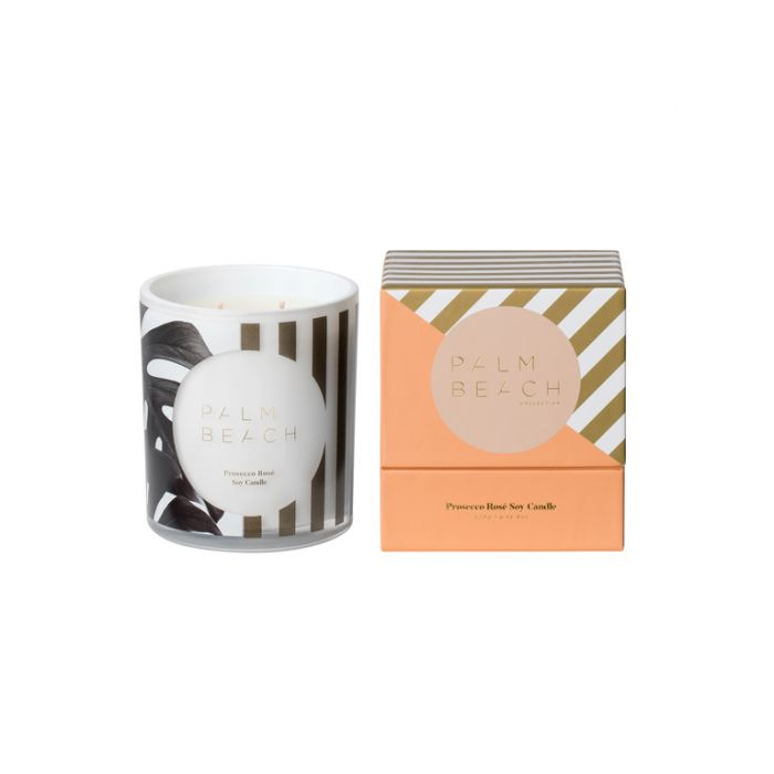 Palm Beach Christmas 2019 Prosecco Rosé Candle  ] 735850319018 - Flower Power