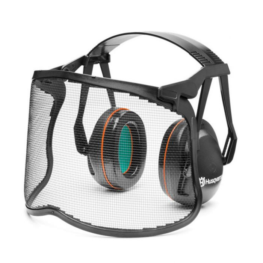 Husqvarna Premium Earmuff with Mesh Visor  ] 7391883216576 - Flower Power
