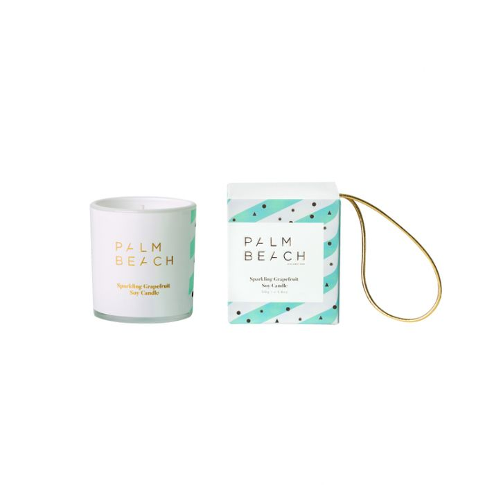 Palm Beach Collection Christmas Bauble Candle Sparkling Grapefruit  ] 793591867526 - Flower Power