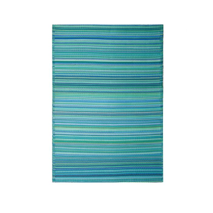 Fab Habitat Cancun Outdoor Mat Aqua  ] 8901304500123 - Flower Power