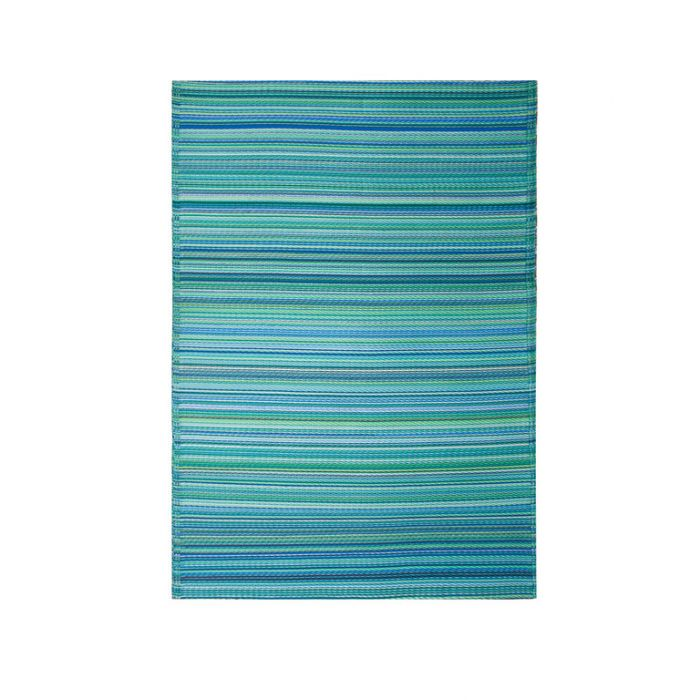 Fab Habitat Cancun Aqua Outdoor Rug  ] 8901304500420 - Flower Power
