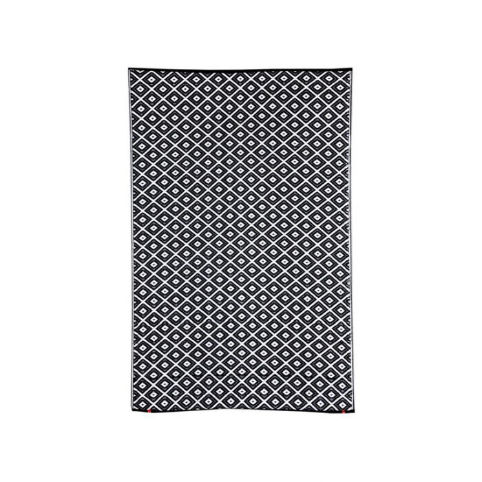 Fab Habitat Kimberley Black Outdoor Rug  ] 8901304500765P - Flower Power