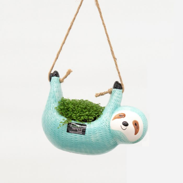 Living Trends Hanging Sloth Planter  ] 9022099999 - Flower Power