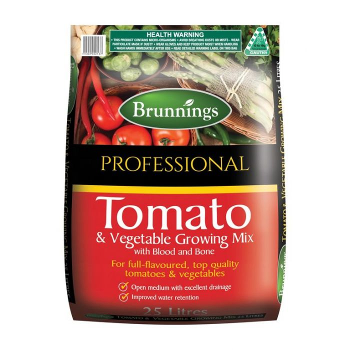 Brunnings Tomato & Vegetable Growing Mix  ] 9310522052618 - Flower Power