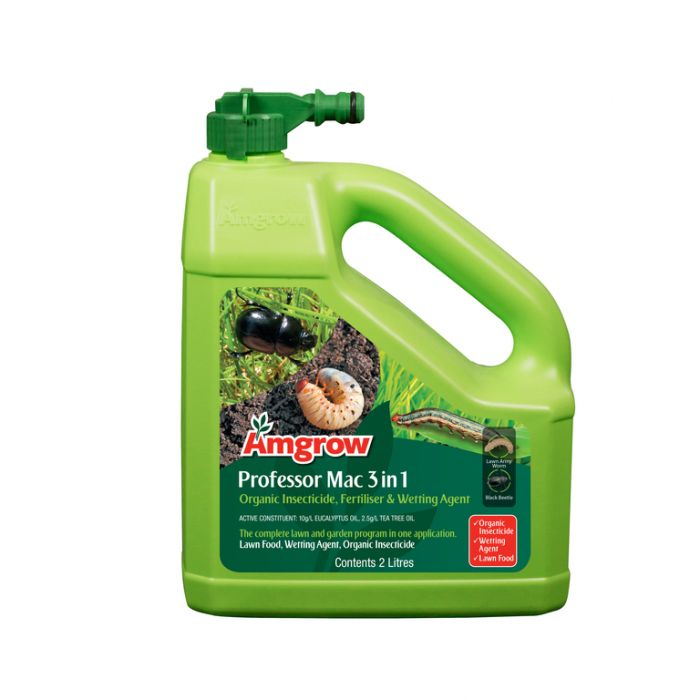 Amgrow Professor Mac 3 in 1 Organic Insecticide, Fertiliser & Wetting Agent Hose-On 2 Litre  ] 9310943824405 - Flower Power