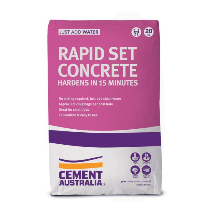 Concrete Rapid Set 20kg  ] 9311808031624 - Flower Power