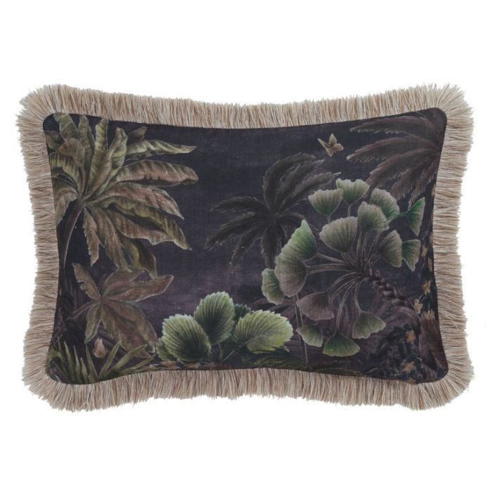 Maison by Rapee Cascade Noir Rectangular Cushion  ] 9312798196096 - Flower Power
