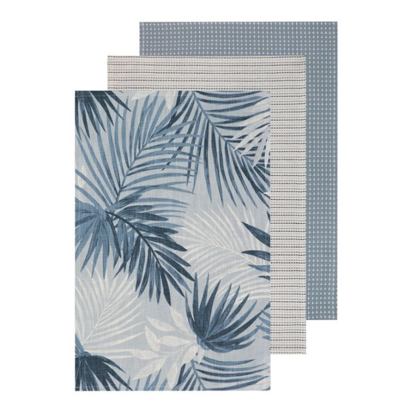 Madras Link Portland Blue Teatowel  ] 9320947161895 - Flower Power