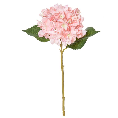 Artificial Hydrangea Stem Pink  ] 9331460251031 - Flower Power