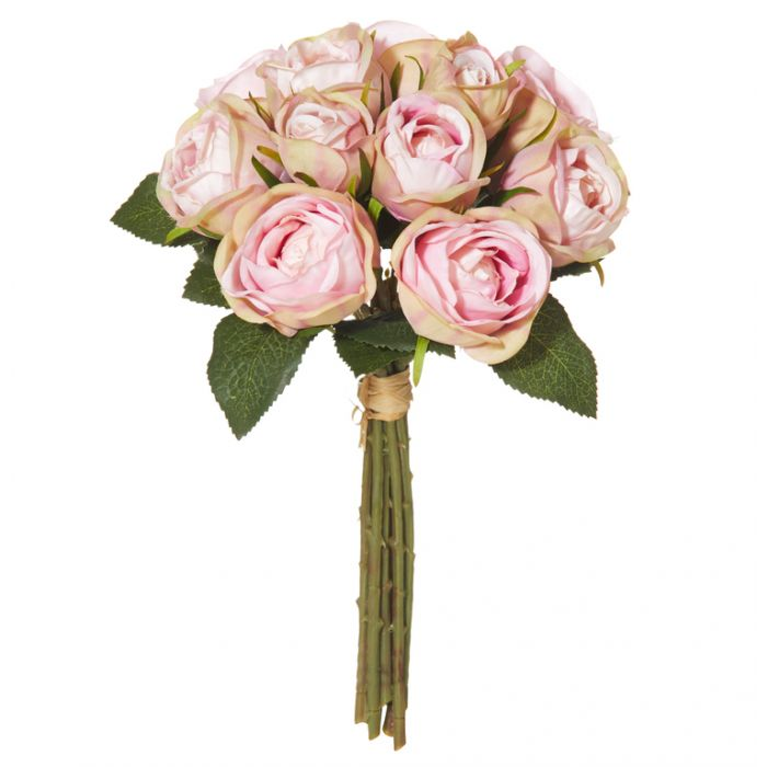 Artificial Bouquet Mini Rose Light Pink  ] 9331460260415 - Flower Power