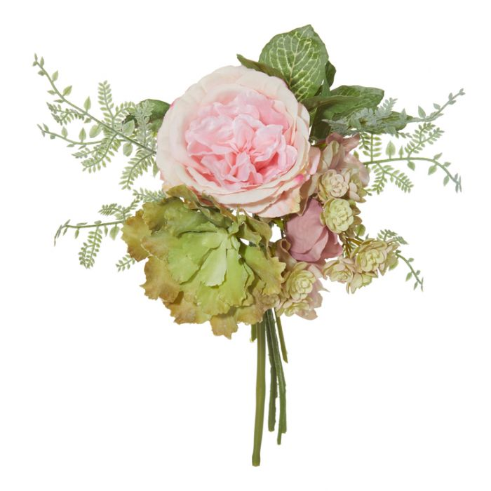 Artificial Bouquet Mixed Pink  ] 9331460277130 - Flower Power