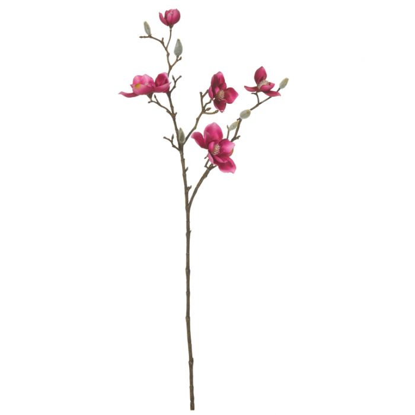 Artificial Magnolia Spray Cerise  ] 9331460277376 - Flower Power