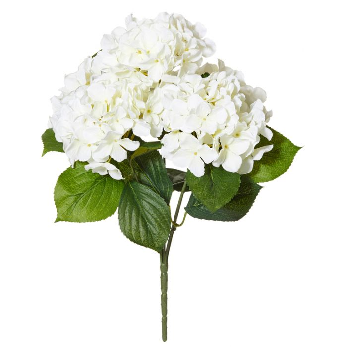 Artificial Hydrangea Bush White  ] 9331460286101 - Flower Power