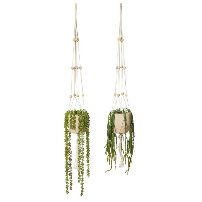 Artificial Dansk Hanging Plant  ] 9331460287313 - Flower Power