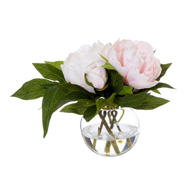 Artificial Peony Sphere Vase Pink  ] 9331460287320 - Flower Power