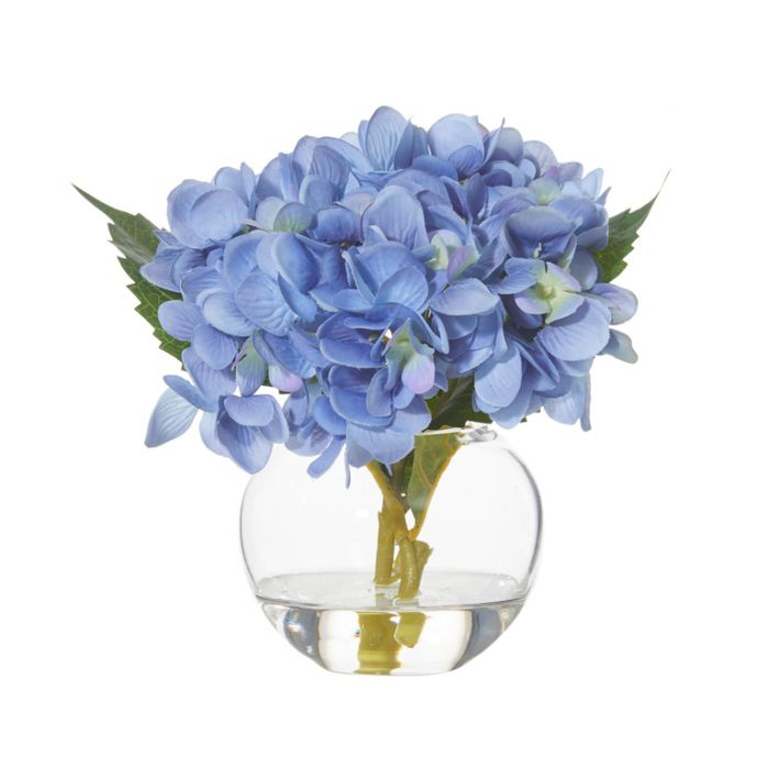 Artificial Hydrangea Sphere Vase Blue  ] 9331460287481P - Flower Power