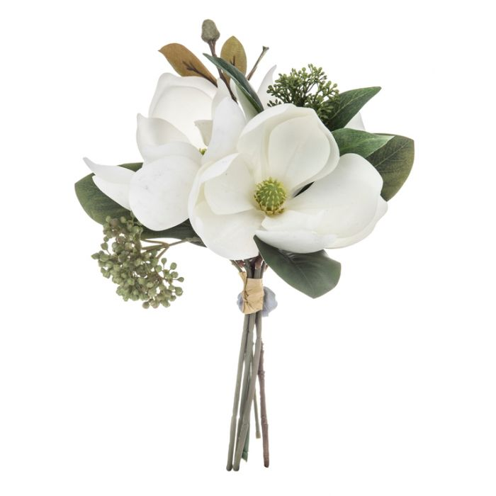 Artificial Bouquet Magnolia White  ] 9331460295035 - Flower Power