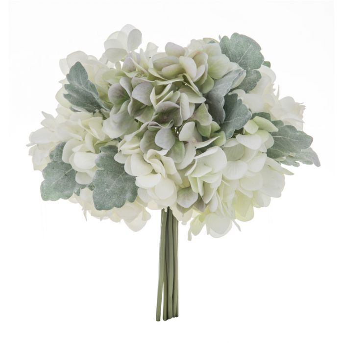 Artificial Hydrangea Bouquet White  ] 9331460296308 - Flower Power