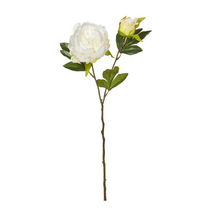Artificial Peony Pick White  ] 9331460296933 - Flower Power