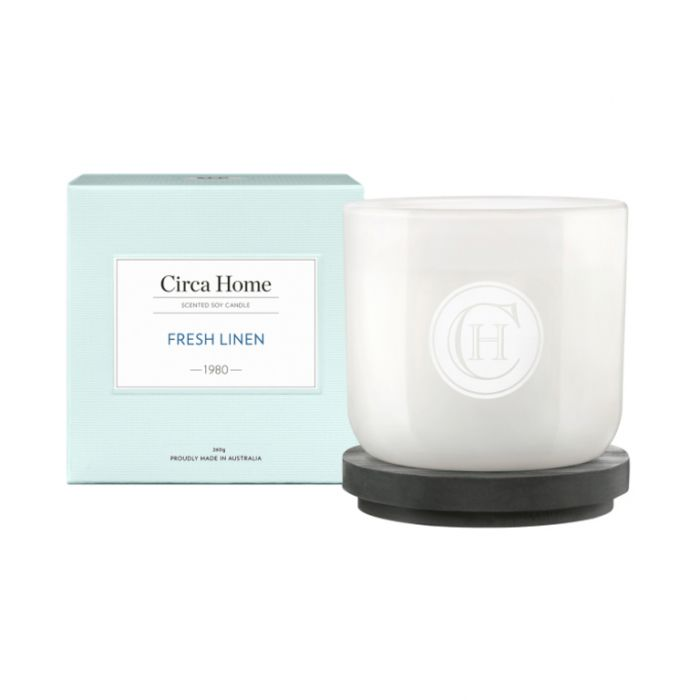 Circa Home 1980 Fresh Linen Classic Candle 260g  ] 9338817008430 - Flower Power