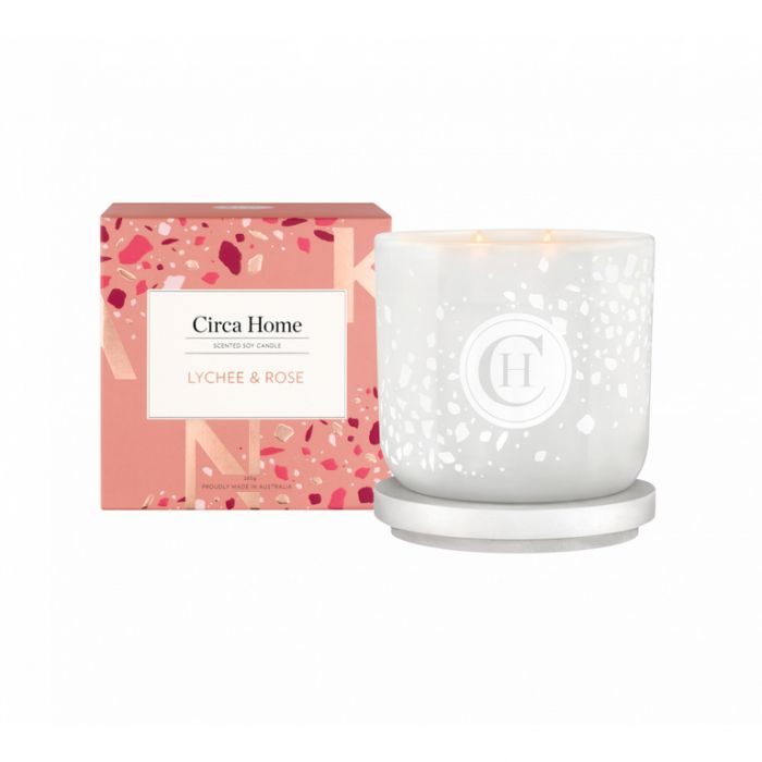 Circa Home Candle Lychee & Rose  ] 9338817015872 - Flower Power