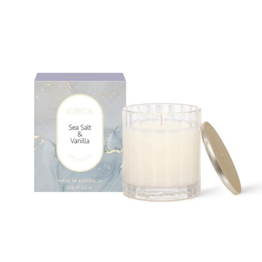 CIRCA Sea Salt & Vanilla Soy Candle 60g  ] 9338817019085 - Flower Power