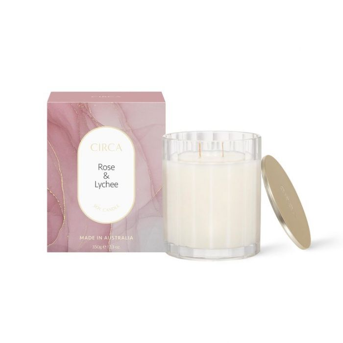 CIRCA Rose & Lychee Soy Candle 60g  ] 9338817019184 - Flower Power