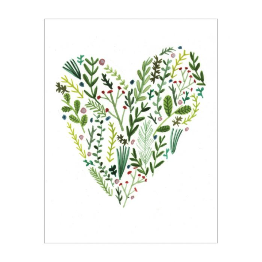 Almanac Gallery Floral Heart Card  ] 9346109019743 - Flower Power