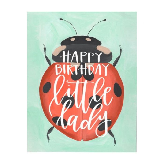 Almanac Gallery Ladybug Birthday Card  ] 9346109043359 - Flower Power