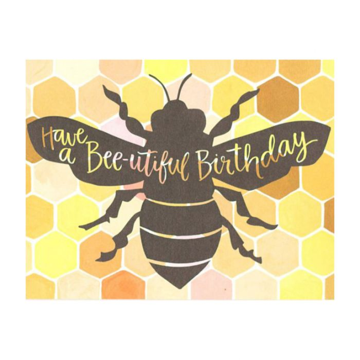 Almanac Gallery Bee-utiful Birthday Card  ] 9346109044424 - Flower Power