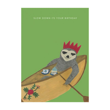 Almanac Gallery Sloth Birthday Card  ] 9346109048033 - Flower Power